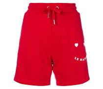 """Shorts mit """"Le Happy""""-Stickerei"""