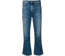 Jeans mit bestickten Seitenstreifen