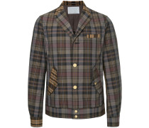 two-tone plaid print jacket