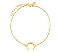 Vergoldetes 'Tusk' Sterlingsilber-Armband