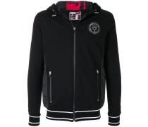 zipped crest hoodie