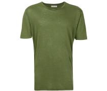 Leinen-T-Shirt mit Rundhalsausschnitt