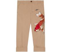 Hose aus Baumwolle mit Fisch-Applikation