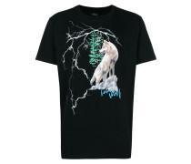 T-Shirt mit Wolfmotiv