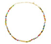 18kt vergoldete Halskette mit Perlen