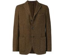 dogtooth patterned blazer