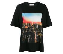Lockeres T-Shirt mit Print