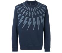 Sweatshirt mit Blitz-Print
