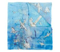 Schal mit Flugzeug-Print