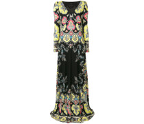 Langes Empire-Kleid mit Paisley-Print