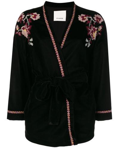 Kimono-Jacke mit Stickerei