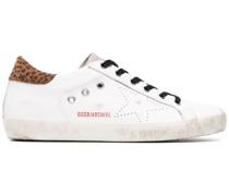 'Superstar' Sneakers mit Leopardenmuster