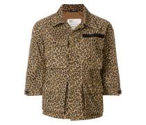 Hemdjacke mit Leoparden-Print