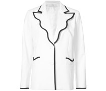 contrast-trim fitted blazer