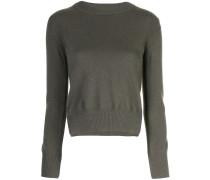 Cropped-Pullover mit Schlitzen