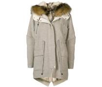 detachable collar parka coat