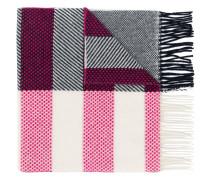Dino patch striped scarf