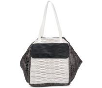 Oversized-Handtasche in Colour-Block-Optik