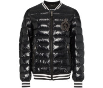 embroidered logo padded jacket