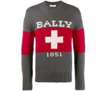 'Swiss' Pullover mit Logo