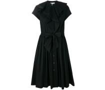 poplin ruffle dress