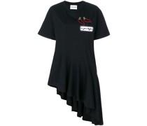 asymmetric hem patch T-shirt