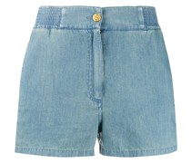piped chambray shorts