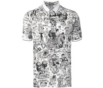 Poloshirt mit Cartoon-Print