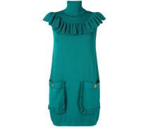 roll neck mini sweater dress
