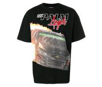 T-Shirt mit Rennwagen-Print