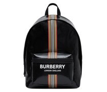 logo and Icon stripe backpack