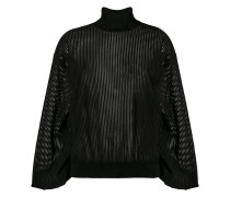 sheer roll-neck sweater