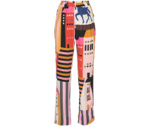 multi-print trousers
