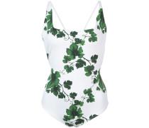 Badeanzug mit Blätter-Print