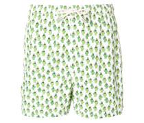 cactus print swim shorts
