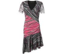 Verziertes Kleid mit V-Ausschnitt
