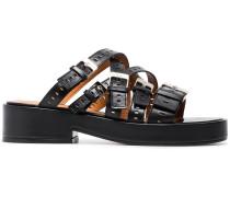 Black Fantom 40 Leather Sandals