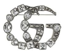 Kristall-Brosche mit Monogramm