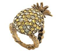 Kristallverzierter Ring mit Ananas