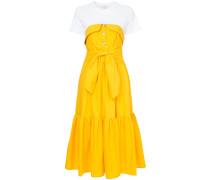 T-shirt colourblock tiered dress