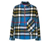 Henley-Sweatshirt mit Karo