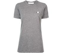 T-Shirt mit Herzstickerei