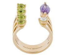 18kt 'Today Tomorrow Dots' Goldring