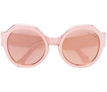 metallic oversize sunglasses