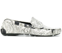 Loafer mit Barock-Print