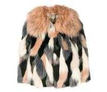 Cropped-Jacke aus Faux Fur