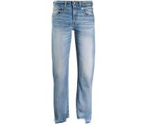 Boyfriend-Jeans mit Distressed-Saum