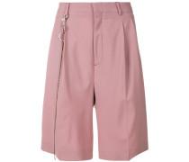 pleated chino shorts