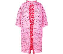 floral laser cut coat