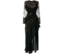 lace wrap ruffled gown